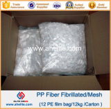 Microfiber PP fibriló la fibra para Anticrack