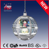 HolidayのためのハングのSnow Globe Lamp Cute Snowman Light