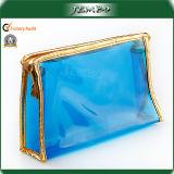 Saco de mão transparente impermeável luxuoso dos cosméticos do PVC da forma