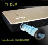 O projetor o mais novo do teatro Home 4k com lâmpada do diodo emissor de luz e tecnologia do DLP