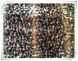 Pelliccia di falsificazione della peluche del boa del poliestere con il punto del leopardo