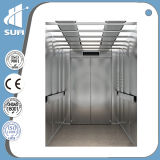 Velocità 1.0m/S Etching Mirror Stainless Steel Passenger Lift