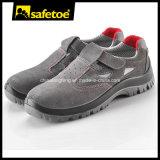 Zapatos de seguridad de la marca de fábrica de Safetoe, zapatos de seguridad de cuero del verano del ante L-7216
