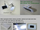 Solar Panel Charger 1002-16년을%s 가진 태양 Power Torch Square LED Bulb Light AC/DC/Solar Input