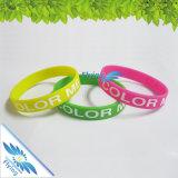 Bracelet bon marché de silicium de bracelet de silicones de cadeaux de promotion