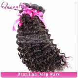 Onda profunda cabelo humano peruano natural Queenlike do Virgin da qualidade de Choosed das mulheres pretas do melhor