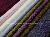 Tissu large de Tableau de largeur de modèle de fleur de pivoine de jacquard de qualité de polyester