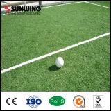 Hierba artificial del campo verde 50m m barato Anti-ULTRAVIOLETA para el campo de fútbol