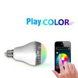 Ampoule lumineuse superbe de haut-parleur de l'économie d'énergie DEL Bluetooth avec le GV