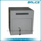 Contenitore di piccola dimensione di cassaforte del deposito della serratura di tasto di sottovalutazione della scanalatura di goccia di caricamento di fronte