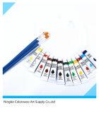 12*12ml colore la peinture non toxique de couleur à l'huile dans le tube en aluminium pour le retrait