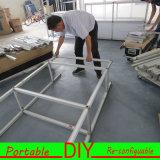De flexibele Modulaire Handel van de Apparatuur van de Geschiktheid van de Systemen van de Vertoning van het Aluminium toont