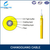 Cabo interno amarelo da fibra do revestimento de PVC de GJFJV