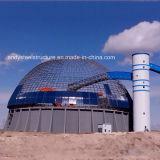 Estructura de acero Liviana edificio grande que Span Cúpula Carbón almacenajes de tejado