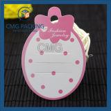 Hangtag plástico impreso para la joyería (CMG-041)