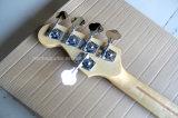 Musique de Hanhai/guitare basse électrique bleu-foncé avec 5 chaînes de caractères