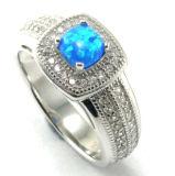 Manier 925 van de Juwelen van Elengant de Ring van de Strook - Turkoois