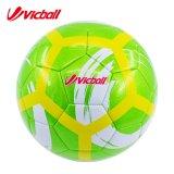 Сшитый машиной шарик футбола пузыря сплошного цвета PVC кожаный резиновый