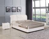 普及した要求のための高貴な現代光沢のあるTVの革ツイン・ベッド