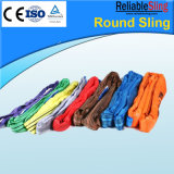 5t Red Polyester Round Webbing Sling