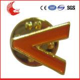 Emblema feito sob encomenda da liga do zinco do projeto novo o mais atrasado