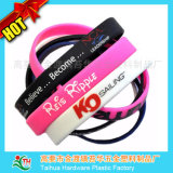 Presente enchido tinta do silicone do Wristband de Debossed (TH-6918)