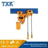 Grua Chain da baixa altura livre de 2 toneladas com trole elétrico
