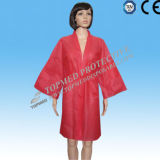nonwoven Disposable SPA Robe、Single UseのためのSPA Bathrobe