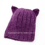 Acrilico Knitted Bear Hat di 100% per Babies