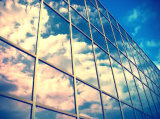 Mur rideau en verre visible/exposé