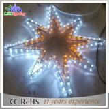 Luz branca da estrela do diodo emissor de luz da decoração do partido do flash do Natal da noite do indicador