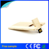 Libre de la muestra de madera natural Tarjeta USB Flash Drive