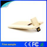 De promotie Aandrijving van de Flits van de Vorm USB van de Kaart van de Gift 8GB Natuurlijke Houten
