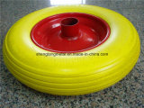 Wheelbarrow PU Foam Wheels 4.00-8 3.50-8 4.00-6 3.50-4 Flat Free Tire