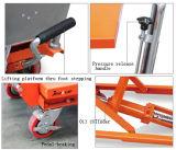 Pedal da alta qualidade 100/150kg que levanta a tabela de elevador dobro das tesouras