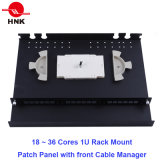 1u 36 Cores Rack Mount Fiber Optic Patch Panel