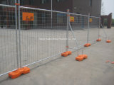 Rete fissa provvisoria con la base del cemento/comitati provvisori reali di recinzione provvisori stile industriale della rete fissa/della fabbrica