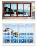 Het aluminium Aangemaakte Venster/de Deur van de Dubbele Verglazing van het Glas Horizontale Gedraaide