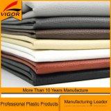 Cuir artificiel de PVC de couleur grise faite sur commande pour le sofa