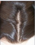 Wear Natural HairlineおよびBaby HairのFellling Middle Part Peruvian Silky Base Closureに容易