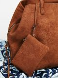 Moda Triple Pocket Slouchy PU Tote para Lady