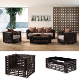 새로운 디자인 최신 판매 합성 등나무 옥외 가구 소파는 놓아 Sinle 또는 Double/3 시트 (YT602)에 의하여 경양식점 /Garden & 호텔을%s 사용한