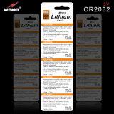 De populaire Batterij 3V Cr2032 van de Cel van de Knoop van het Lithium