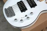 Гитара нот/5-String Hanhai белая электрическая басовая
