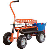 Rollen Shop Cart mit 360 Degree Swivel Seat und Tool Tray
