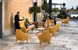 (SD-6002)現代ホテルのレストランの居間の家具の革ソファーセット