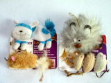 Jouet animal de chat de peluche de cataire de Rod de jouet d'animal familier