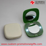 Plastic ABS Square Make-up Clamshell Mirror met LED Light