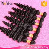 Heißes verkaufenbündel-Haar-Extensions-brasilianisches wellenförmiges reizendes Haar des produkt-100g/Lot unverarbeitete mit freiem Verschiffen