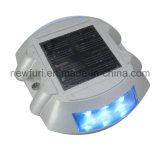 6PCS LED 번쩍이는 태양 묘안석 도로 장식 못